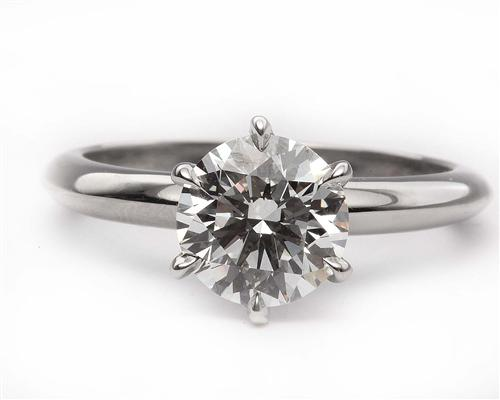 Platinum 1.61 Round cut Solitaire Ring Designs