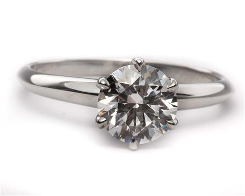 Platinum 1.30 Round cut Diamond Solitaire Rings