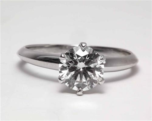 Platinum 1.20 Round cut Diamond Ring