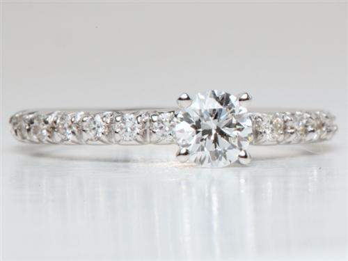 White Gold 0.37 Round cut Diamond Ring