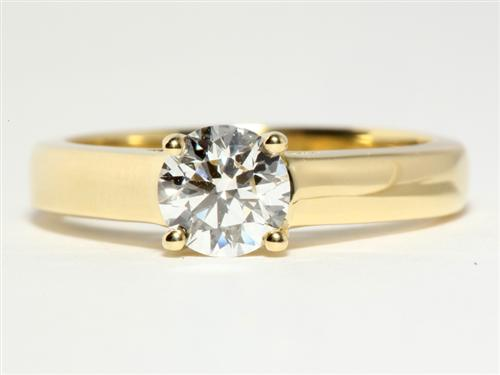 Gold 0.79 Round cut Solitaire