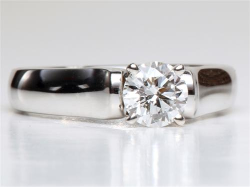 White Gold 0.57 Round cut Diamond Ring