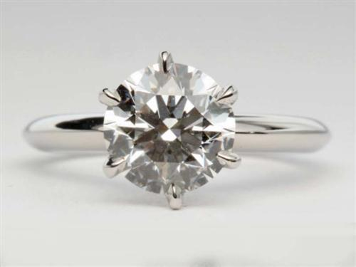 Platinum 2.05 Round cut Solitaire Rings