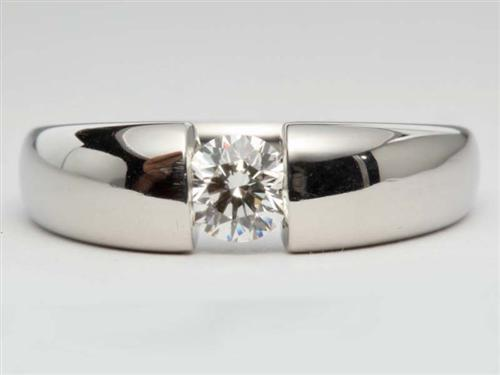 Platinum  Tension Ring Setting