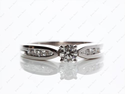Platinum 0.34 Round cut Channel Set Diamond Rings