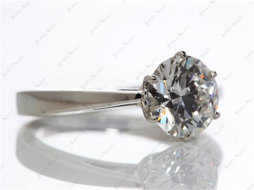 Platinum 1.50 Round cut Diamond Solitaire Ring Settings