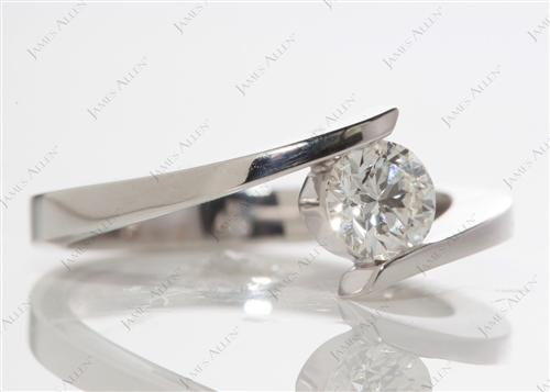White Gold 0.62 Round cut Solitaire