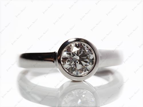 White Gold 1.02 Round cut Diamond Ring