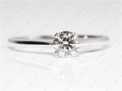 White Gold 0.53 Round cut Diamond Ring