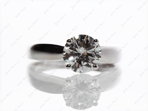 White Gold 1.70 Round cut Diamond Ring