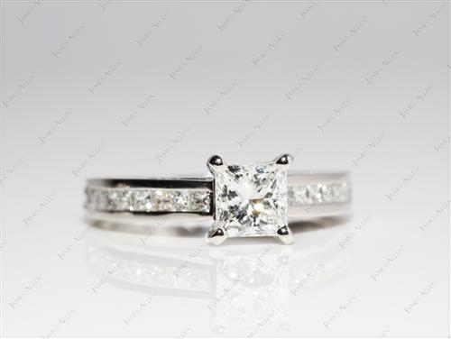 Platinum 1.01 Princess cut Bridal Wedding Sets