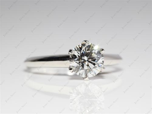 Platinum 1.06 Round cut Solitaire Rings