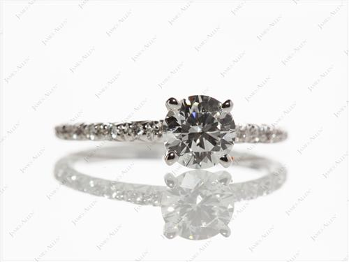 White Gold 0.70 Round cut Diamond Wedding Sets