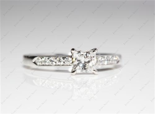 Platinum 0.58 Princess cut Engagement Ring