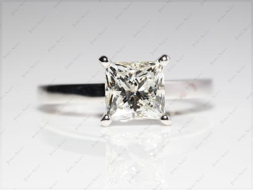 Platinum 1.91 Princess cut Diamond Ring