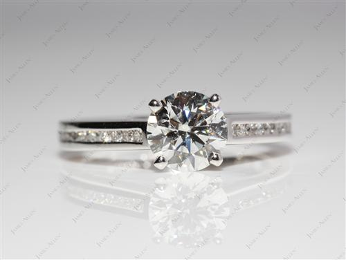 Platinum 1.17 Round cut Channel Set Diamond Engagement Ring