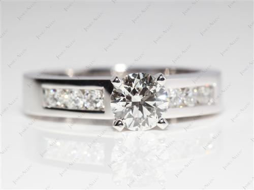 Platinum 0.77 Round cut Diamond Wedding Sets