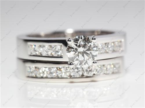 Platinum  Bridal Wedding Ring Sets