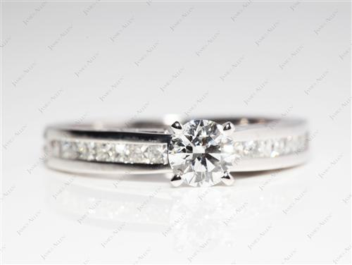 Platinum 0.59 Round cut Wedding Band Sets