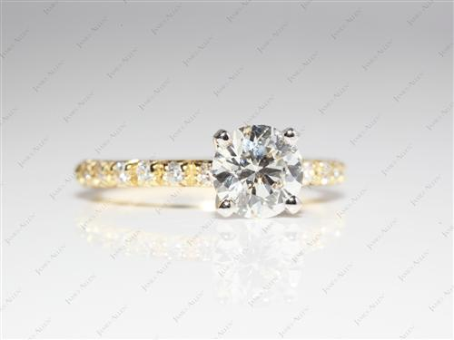 Gold 1.13 Round cut Diamond Ring