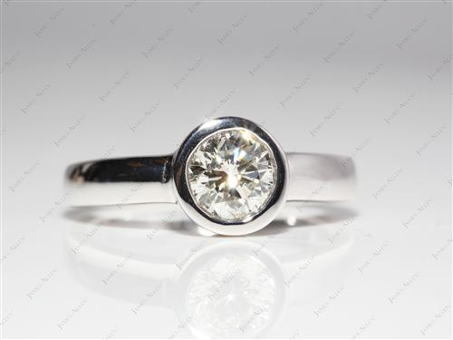 White Gold 1.04 Round cut Tension Ring Setting