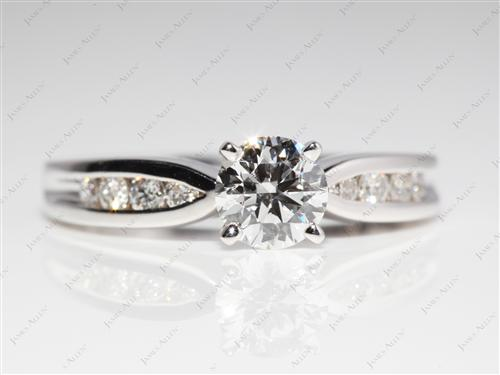 White Gold 0.76 Round cut Channel Set Diamonds