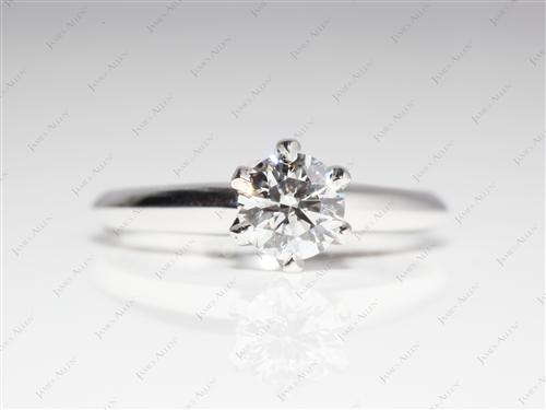 White Gold 0.53 Round cut Solitaire Engagement Ring