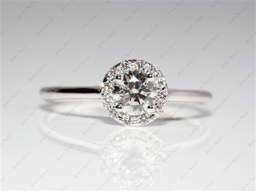 White Gold 0.50 Round cut Engagement Ring