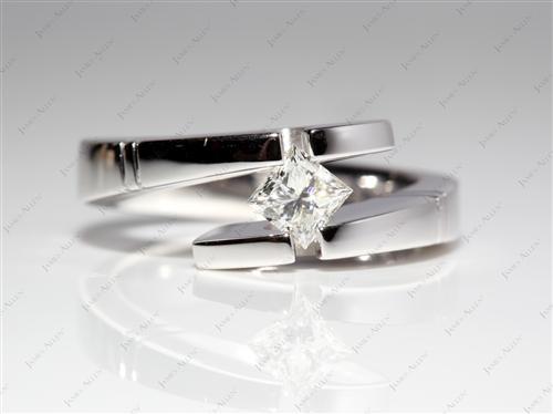 White Gold  Tension Ring