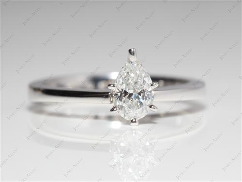 White Gold 0.51 Pear shaped Engagement Ring