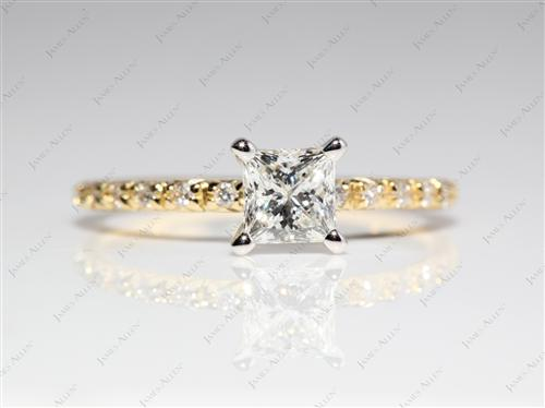 Gold  Pave Ring