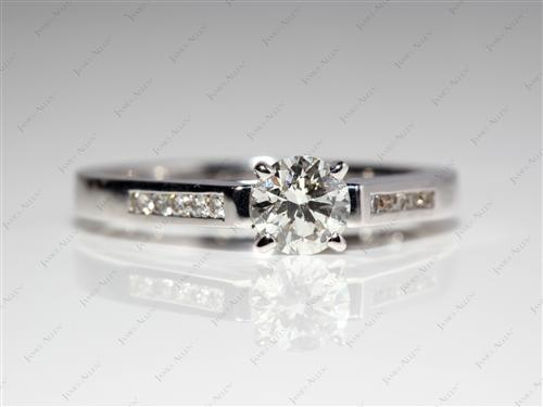 White Gold 0.53 Round cut Channel Set Diamond Band