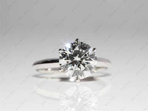 Platinum 2.33 Round cut Diamond Solitaire Engagement Ring
