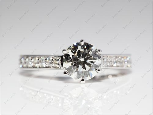 White Gold 1.17 Round cut Engagement Ring