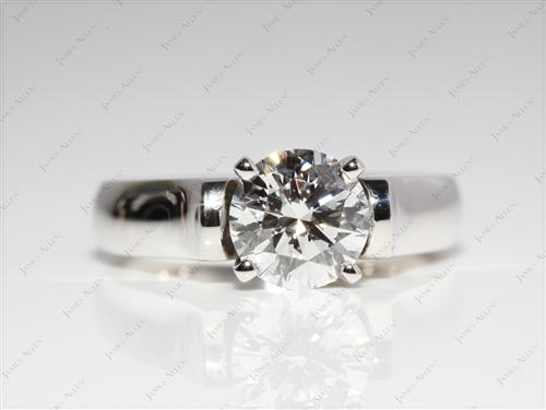 Platinum 1.21 Round cut Solitaire Ring Designs