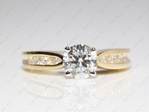 Gold  Channel Set Rings