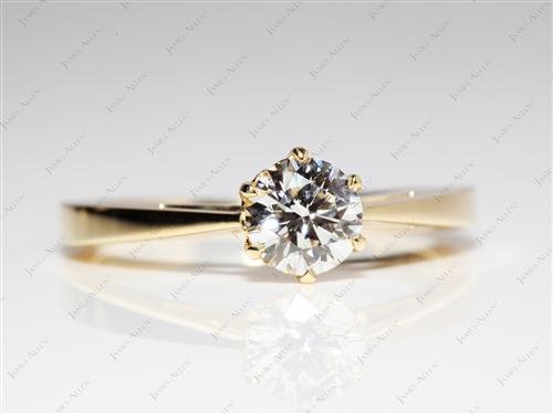 Gold 0.75 Round cut Solitaire