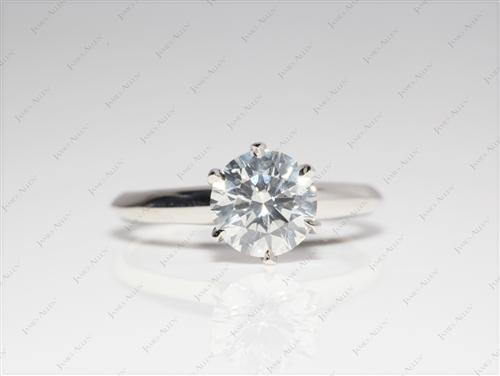 Platinum 1.06 Round cut Solitaire Engagement Rings