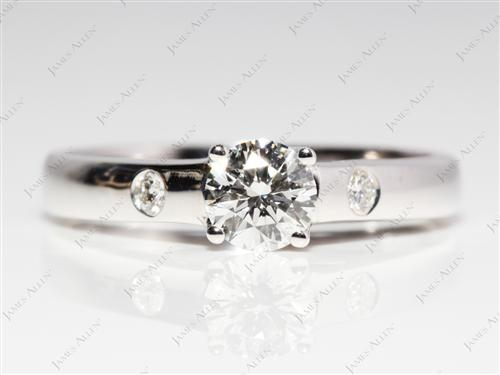 White Gold 0.50 Round cut Solitaire Ring Designs