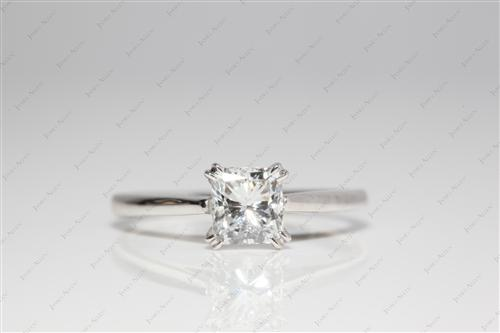 White Gold 0.91 Radiant cut Engagement Ring