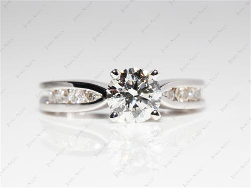 White Gold 0.90 Round cut Channel Set Diamonds