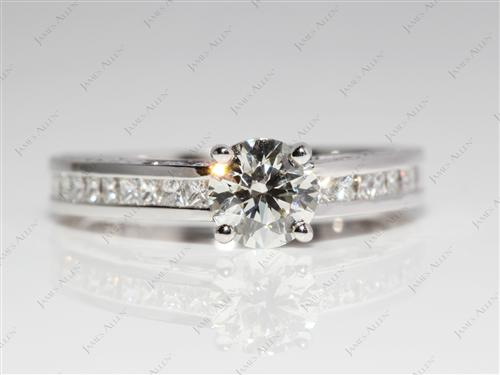 White Gold 0.65 Round cut Channel Set Diamond Ring
