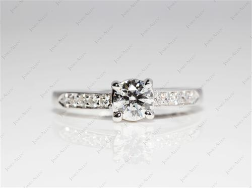 White Gold 0.47 Round cut Diamond Rings