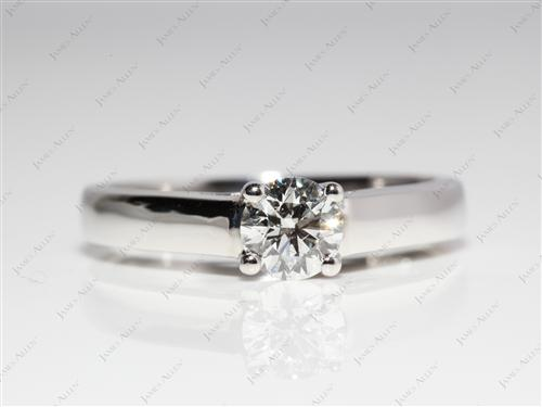 Platinum 0.53 Round cut Solitaire Ring Setting