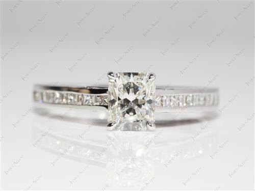 Gold 1.26 Radiant cut Diamond Channel Rings