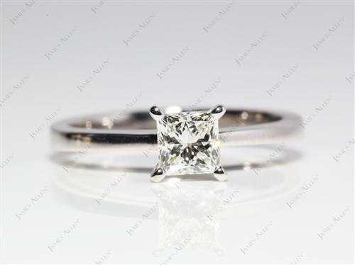 Platinum 0.72 Princess cut Solitaire