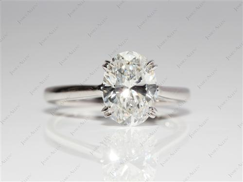 White Gold 1.65 Oval cut Solitaire Rings