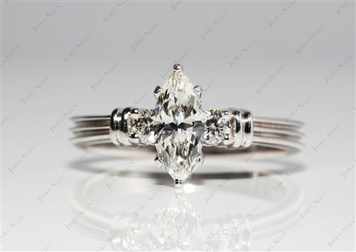 White Gold 0.70 Marquise cut Gold Wedding Ring Sets