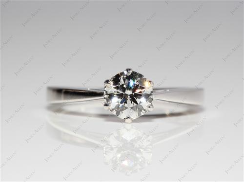 White Gold 0.70 Round cut Solitaire