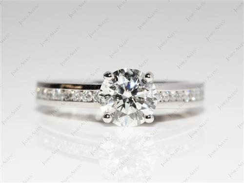 Platinum 1.20 Round cut Channel Setting Ring